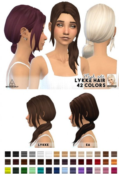 Miss Paraply: Lykke Hairstyle for Sims 4