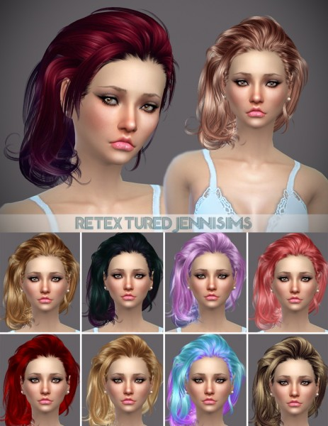 Jenni Sims: Newsea`s hairstyle Gold Leaf,LightYear retextured for Sims 4
