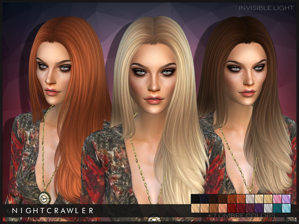 The Sims Resource: Invisible Light hairstyle by Nightcrawler for Sims 4