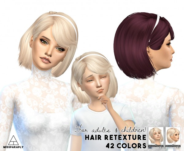 Miss Paraply: Maysims 46 hairstyle retextured for Sims 4