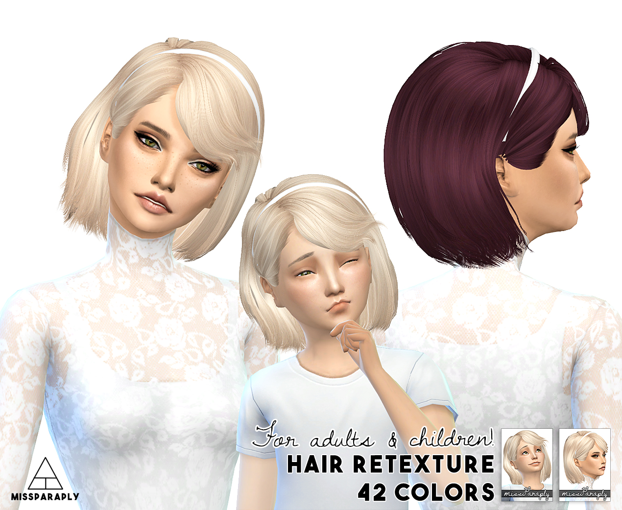 Sims 4 Hairs Miss Paraply Maysims 46 Hairstyle Retextured