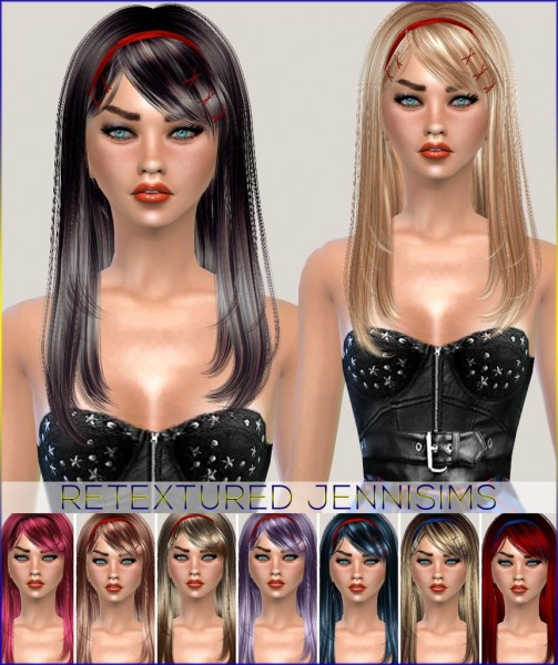 Jenni Sims: Newsea`s Hairs Lovers,Overflow retextured hairstyle for Sims 4
