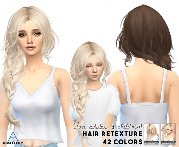 Miss Paraply: Maysims 43 hairstyle retextured for Sims 4