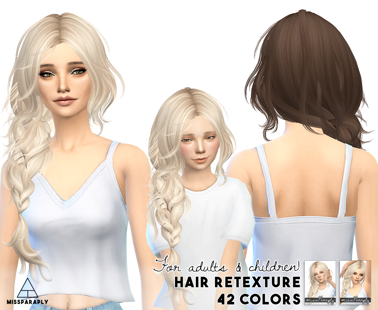 Sims 4 Hairs Miss Paraply Maysims 43 Hairstyle Retextured