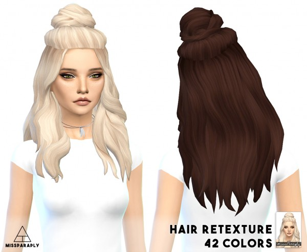 Miss Paraply: Vellichor hairstyle retextured for Sims 4