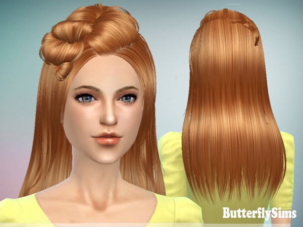 Butterflysims: Hairstyle 078M for Sims 4
