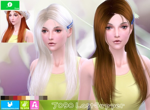 NewSea: J 090 Last Supper hairstyle for Sims 4