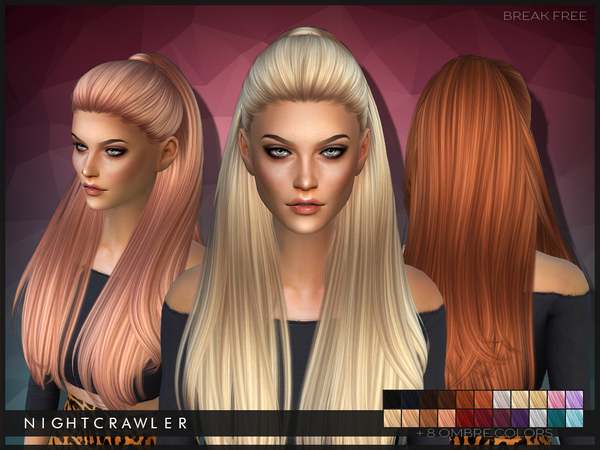 The Sims Resource: Break Free hairstyle by Nightcrawler for Sims 4