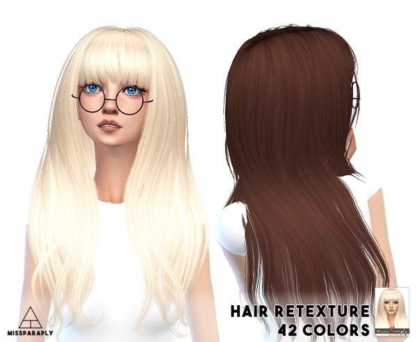 Miss Paraply: Alesso`s hairstyle retextured for Sims 4
