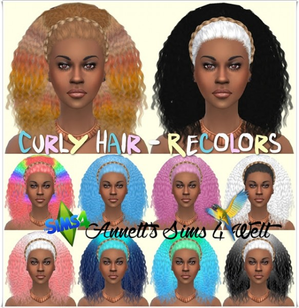 Annett`s Sims 4 Welt: Curly Hairstyle Recolors for Sims 4