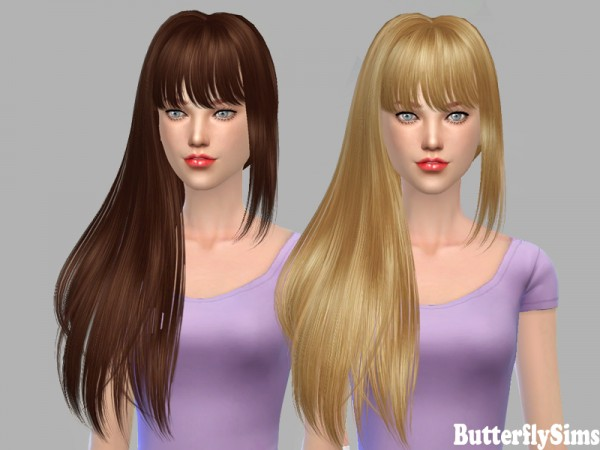 Butterflysims: Hairstyle 154 for Sims 4