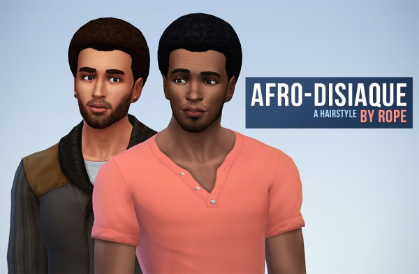 Simsontherope: Afro disiaque hairstyle converted for Sims 4