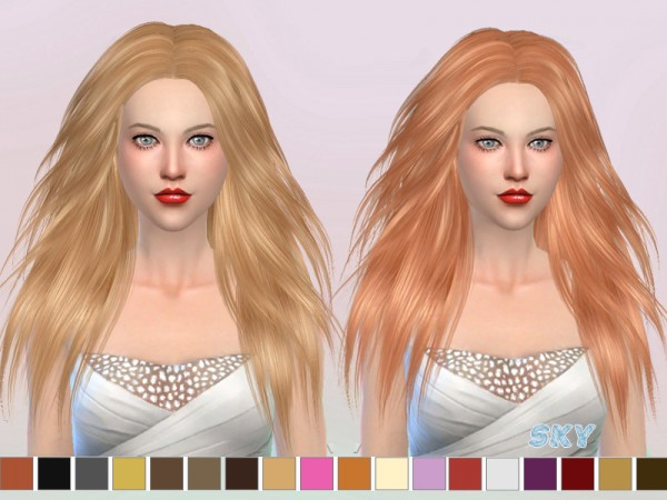 The Sims Resource: Hairstyle 271 Jany by Skysims for Sims 4