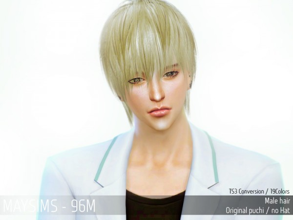 MAY Sims: May Hairstyle 96M retextured for Sims 4