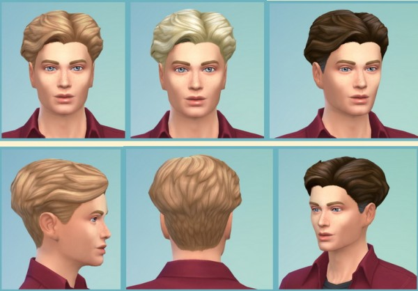 Birksches sims blog: Gillian Hairstyle for Sims 4