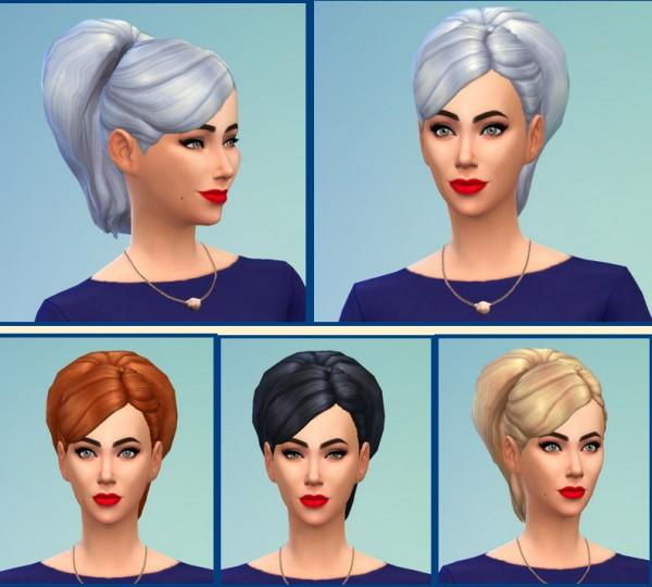 Birksches sims blog: Big Bun Hairstyle for Sims 4