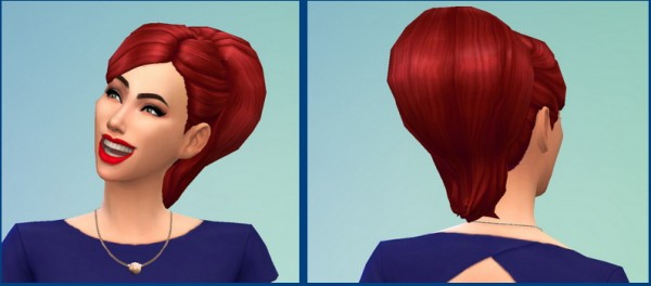 Birksches sims blog: Big Bun Hairstyle for Sims 4