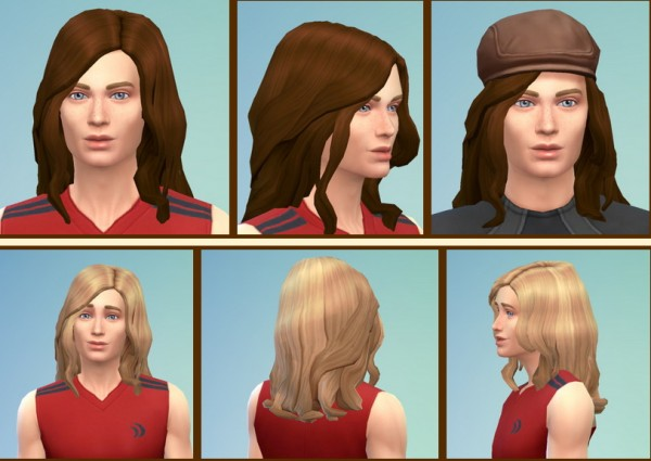 Birksches sims blog: Smooth Curls hairstyle for Sims 4