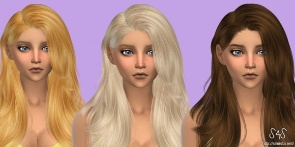 Simista: Alesso`s Hide hairstyle retextured for Sims 4