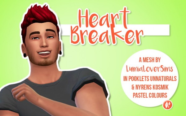 SimBlob: Lumias Heart Breaker Hairstyle recolor for Sims 4