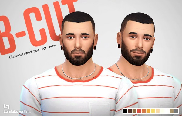 Lumia Lover Sims: Buzz cut hairstyle retextured for Sims 4