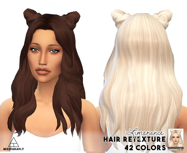 Miss Paraply: 17 000 followers hairs retextured gift part 2 for Sims 4