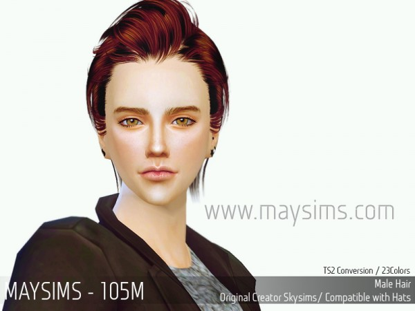 MAY Sims: May Hair 105M retextured for Sims 4