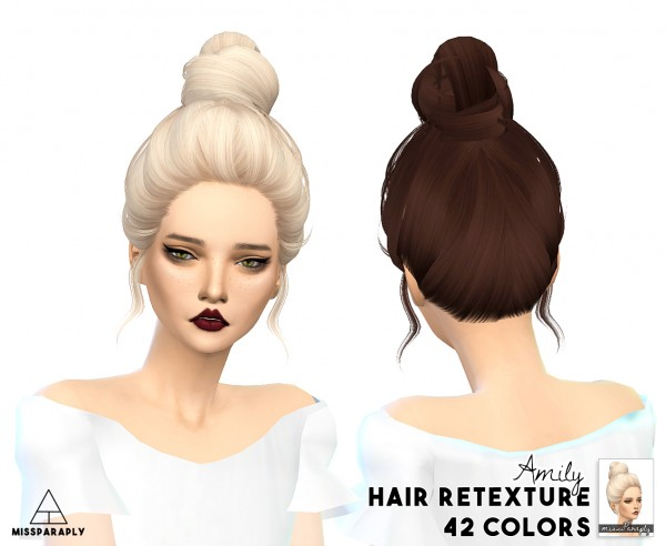 Miss Paraply: Skysims hairs retextured for Sims 4