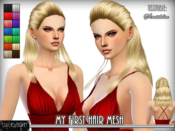 The Sims Resource: DN   Hair 01   Midnight for Sims 4