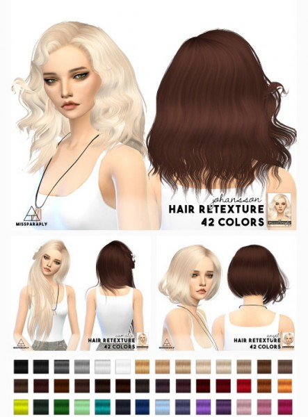 Miss Paraply: Sintiklia hair retextured for Sims 4