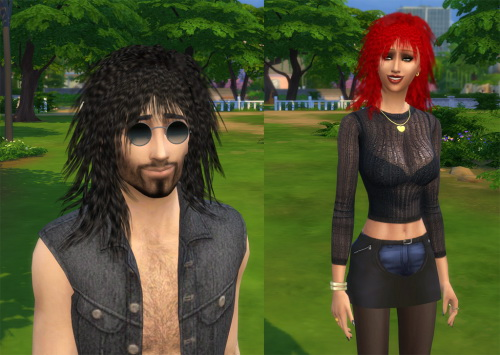 Julietoon: Biker Chick hairstyle for Sims 4