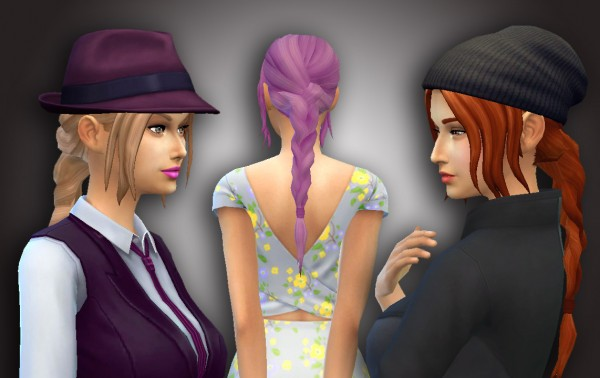 Mystufforigin: Simplicity hair for Sims 4