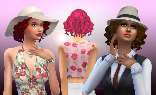 Mystufforigin: Soft Curls for Sims 4