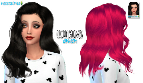 Nessa sims: CoolSims Omen hairstyle retextured for Sims 4