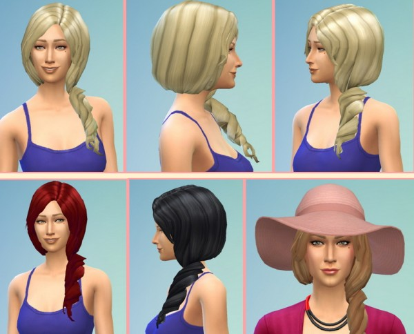 Birksches sims blog: Amanda Hairstyle for Sims 4