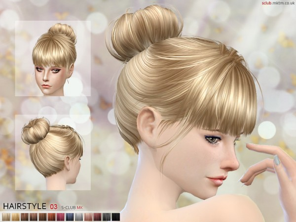 The Sims Resource: Hairstyle N3 for Sims 4