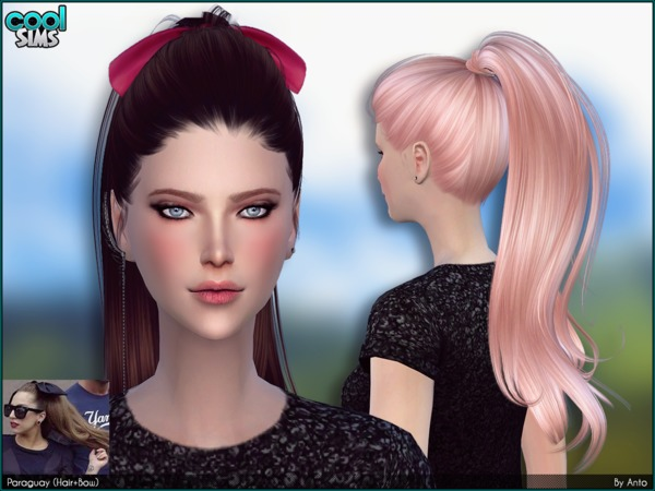 The Sims Resource: Anto   Paraguay hairstyle by Alesso for Sims 4