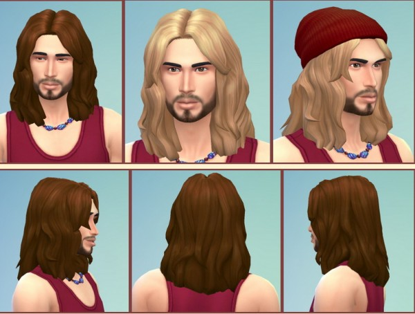 Birksches sims blog: Russel Hairstyle for Sims 4