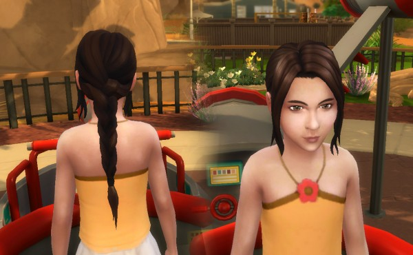 Mystufforigin: Simplicity Hair for Girls for Sims 4