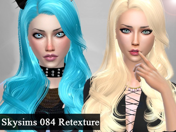 The Sims Resource: Skysims 084 Hairstyle Retextured for Sims 4
