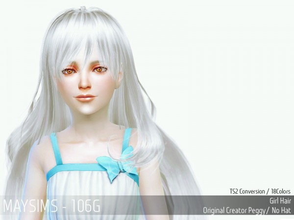 MAY Sims: May Hair106C for Sims 4