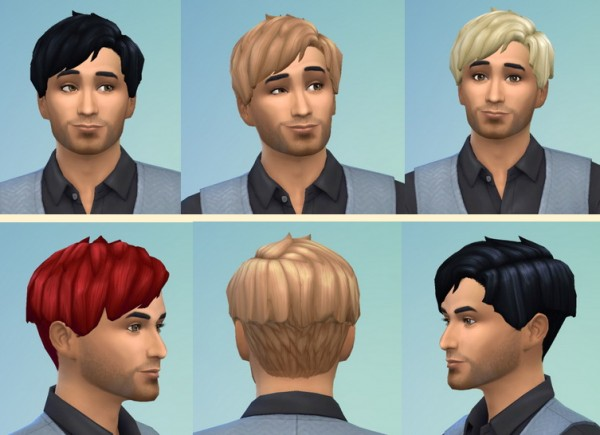 Birksches sims blog: Roundparted Hairstyle for Sims 4