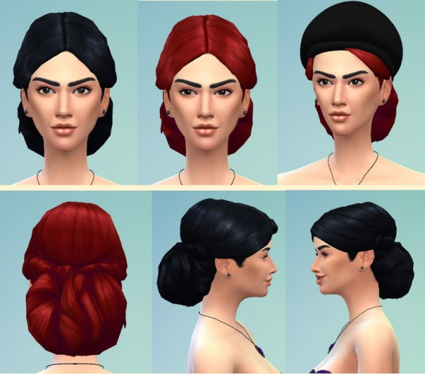 Birksches sims blog: Mary Sibley Hair for Sims 4