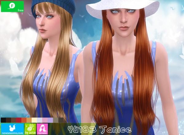 NewSea: YU183 Janice hair for Sims 4