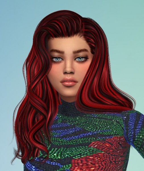 Mod The Sims: 24 Recolors of Alesso Coolsims Anto Omen hair by Pinkstorm25 for Sims 4