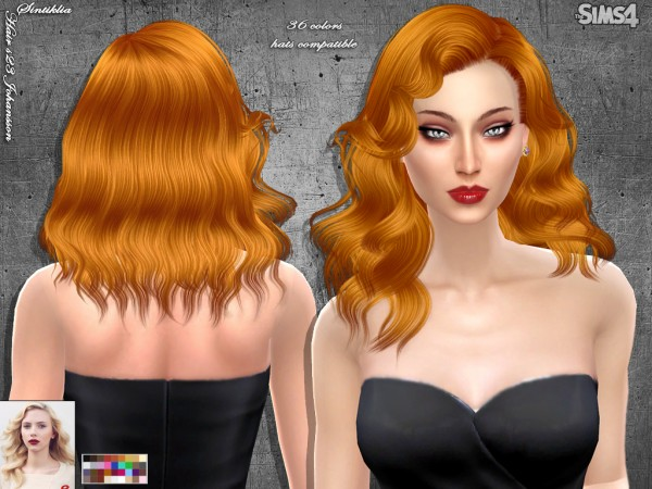 Sintiklia Sims: Hair 23 Johansson for Sims 4