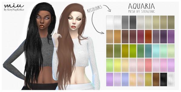 Miu: Stealthic Aquaria hair retextured for Sims 4
