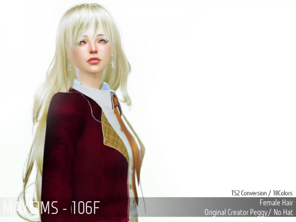 MAY Sims: May 106F hair retextured for Sims 4