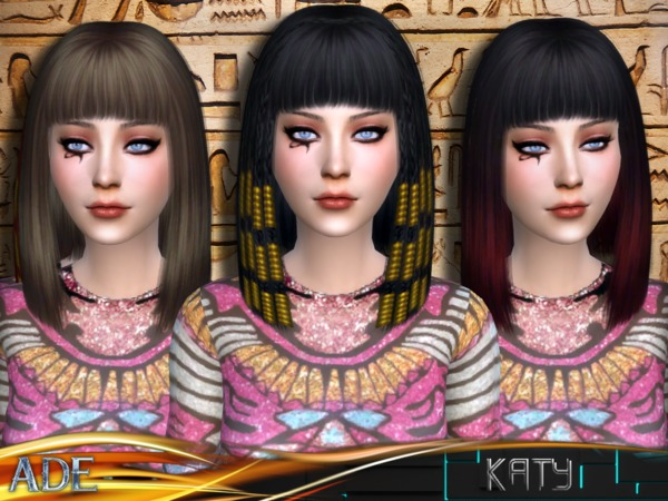 The Sims Resource: Katy hair by Ade Darma for Sims 4