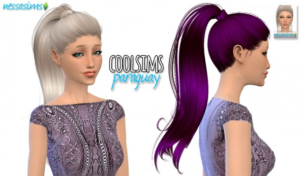 Nessa sims: CoolSims Paraguay hair retextured for Sims 4